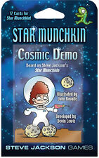 Star Munchkin Cosmic Demo Card Game Adds 17 Cards Steve Jackson Booster SJG 4252