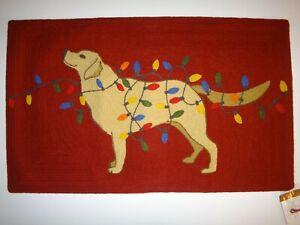 NEW!! Pottery Barn Tangled Labrador Dog Christmas Holiday Crewel Pillow Cover