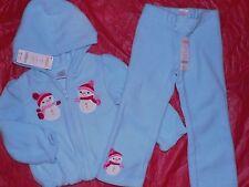 Gymboree Girls 2T-3T NWT Cutie snowman fleece hoodie and 3T pants lot