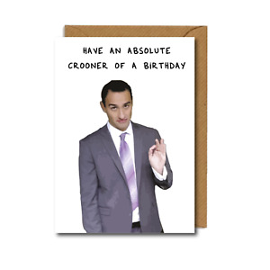 HAPPY BIRTHDAY card STATH LETS FLATS inspired CROONER OF A BIRTHDAY friend