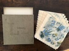 More details for vintage liberty of london napkins original box 1950s mixed flowers