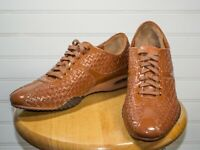 Cole Haan Women's Cognac Woven Leather Oxford Casual Shoe 10 AA