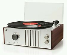 New 1970's style Crosley Mahogany record player turntable FM radio MP3 input 💿