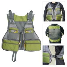 Multifunctional Fly Fishing Mesh Vest with Hard Shell Storage for Tackle Gear