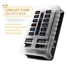 LED Indicator IP56 Waterproof Blade Fuse Box Holder Block ATC ATO 12-Way 250 Amp