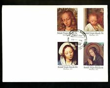 Postal History Virgin Islands Fdc #731-734 Religion Christmas art paintings 1991