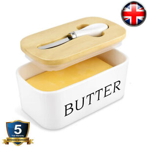 Porcelain Butter Dish with Knife Lid French Butter Dish Insulated Storage Box UK