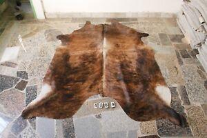 BRINDLE EXOTIC- Rug HAIR ON SKIN  Leather Cowhide Rug  4664-   79'' x  64''