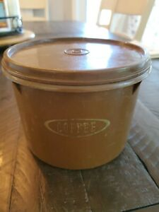 VINTAGE Tupperware # 263-5 Brown Coffee Container w/matching lid #238-27