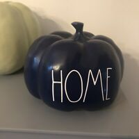 NEW Rae Dunn Magenta ~HOME~ Medium Blue Pumpkin LL Fall, Autumn
