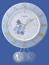 NEW Disney Cinderella Pendulum Wall Clock Blue from Japan