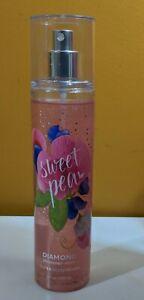 Bath & Body Works Sweet Pea Diamond Shimmer Fragrance Mist 8 oz