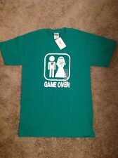 Green Married Game Over T Shirt Size Small Men's/Women's