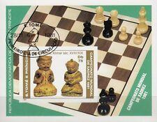 Santo Tomé e Principe nº bl. 60b-ajedrez WM 1981 Merano/piezas de ajedrez