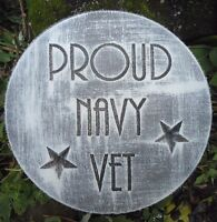 """Veteran navy plaque mold 10"""" x .75"""" thick  mould for plaster concrete casting"""