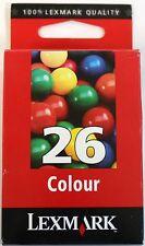 Genuine New Lexmark 10N0026E 26 Colour (Cyan/Magenta/Yellow) Ink Cartridge Tri 3