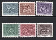 POLAND MNH 1960 SG1173-1178 ALTAR WOOD CARVINGS OF ST MARY'S CHURCH