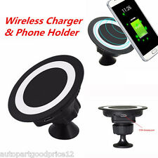 Universal Car Charger Dock Wireless Charging Pad Phone Holder for Samsung iPhone