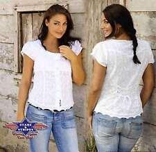 Figurbetonte Damenblusen, - tops & -shirts mit klassischem Kragen aus Baumwolle