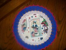 New Handmade Round Crochet Doily--Patriotic/Americana/Yankee Doodle Dandy