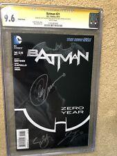 Batman #21 1:100 Zero Year DC New 52 Signed Snyder Capullo Tynion  CGC 9.6 3x