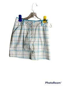 NWT Tail outseam skort with belt loop summer plaid 2 Skirt lined Pockets