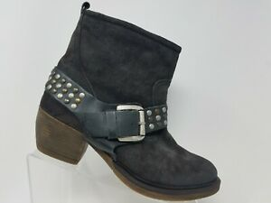 Josef Seibel Toni Ankle Boot Size 9 40 Brown Studded Leather Womens Zip Up Shoe
