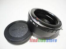 Minolta MD MC Lens to Micro 4/3 M4/3 Adapter E-P3 E-PL2 E-PM1 GH1 G2 GF7 + CAP