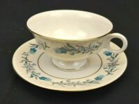 Theodore Haviland New York Clinton Tea Cup and Saucer White with Blue Flowers