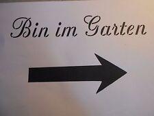 """Schablone """"Bin im Garten """" auf A4"""
