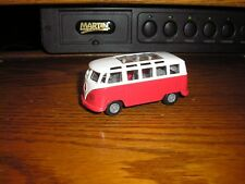 """3 3/4"""" Long Nice 23 Window 1960's Vw Volkswagen w Pull Back Action Red & White"""