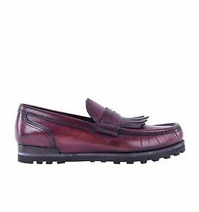 Dolce & Gabbana Stable Moccasins Loafers Shoes Genova Bordeaux Red 05507