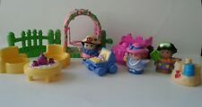 Vtg. Fisher Price Little People Tea Party/Beach Play Set/Car/Mom&Baby Mattel Lot