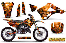KAWASAKI KX125 KX250 99-02 GRAPHICS KIT CREATORX DECALS INFERNO ONP