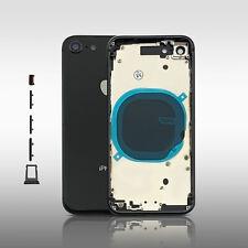Gehäuse für iPhone 8 Akkudeckel Backcover Housing Cover Rahmen Schwarz