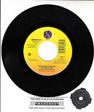 "MADONNA  This Used To Be My Playground 7"" 45 record + juke box title strip RARE!"