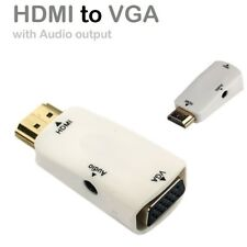 HDMI to VGA Converter Adapter Cable 1080P Male-Female With 3.5mm Audio Line Out