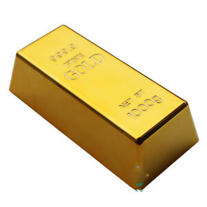 Fake Gold Table Decoration Bar Plate Bullion Door Stop Paperweight Desk HOT