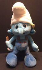 "Jakks Handy Smurf Plush 12"" Stuffed Animal 2013 Boy Blue White"