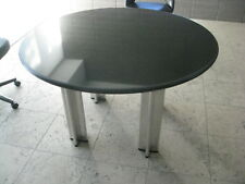 "Knoll Pascal Round Table 48"" PRISTINE Blk Gran Barcelona Saarinen Eames"
