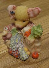 Cute Collectible Enesco This Little Piggy Went to Market 1994 Figurine Pigurine