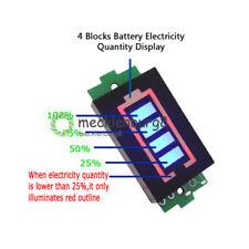 1S Single 3.7V Lithium Battery Capacity Indicator 4.2V Power Tester Blue Dispaly