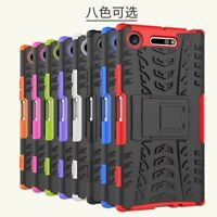 Shockproof Rugged Slim Hybrid Armor Hard Case Stand Cover For Sony Xperia XZ1