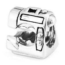 Sewing Machine Genuine Solid Sterling Silver Charm OHM Bead WHB110