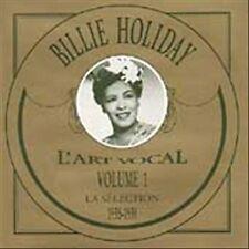 BILLIE HOLIDAY - L' ART VOCAL - VOLUME 1     CD  LIKE NEW   DB1793