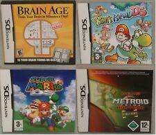 Nintendo Ds: edad cerebral, Yoshi's Island Super Mario, Metroid Prime Hunters Demo