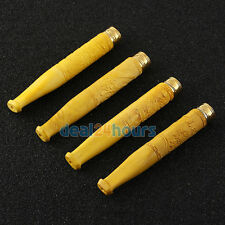 Handmade Carving Boxwood Smoking Pipe Filter Cigarette Holder Mouthpiece Stem