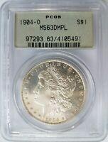 1904 O Silver Morgan Dollar PCGS MS 63 DMPL Deep Mirrors OGH PL DPL Coin