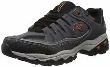 Skechers Mens Memory Fit 50125 Low Top Lace Up Running, Charcoal, Size 8.0 q79j