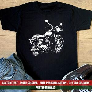 Triumph Silhouette T Shirt Classic Vintage Motorcycle Bonneville Grandad Gift